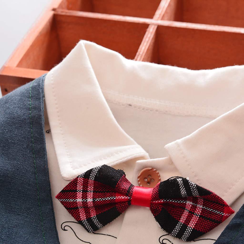 Weste Hosen Outfit Set Kleidung Neugeborene Set Gentleman Cartoon Shirt Tops