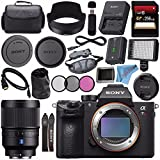Sony ILCE7RM3/B Alpha a7R III Mirrorless Digital Camera (Body Only) Distagon T FE 35mm f/1.4 ZA Lens SEL35F14Z + 256GB SDXC Card + Professional 160 LED Video Light Studio Series Bundle