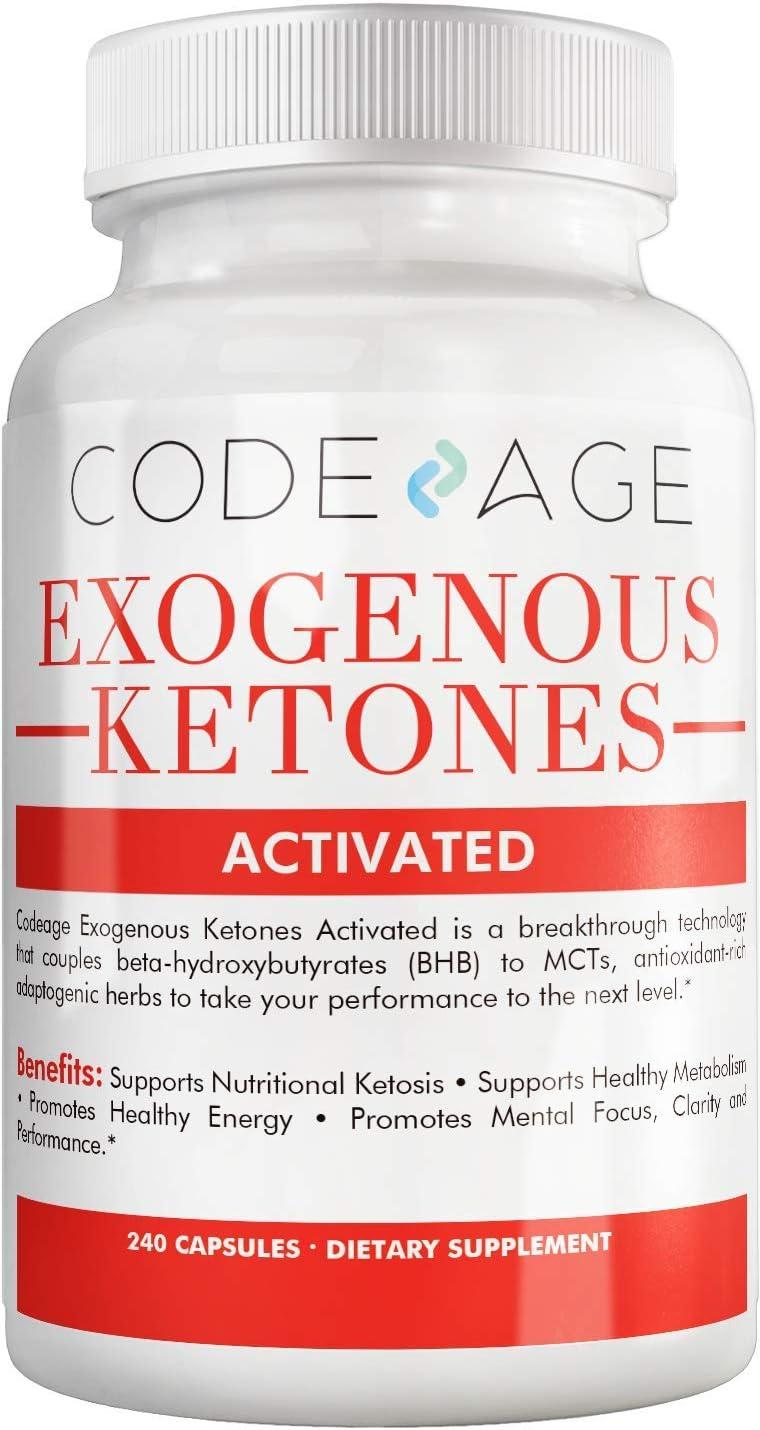 Codeage Keto BHB Exogenous Ketones Supplement Pills w. BHB Salt