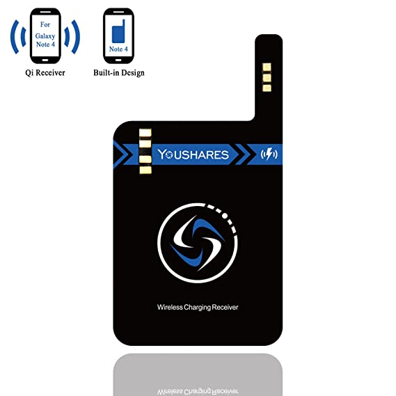 the latest 68774 3dbe9 Note 4 Qi Wireless Charging Receiver, YOUSHARES Built-in Module Card for  Samsung Galaxy Note 4 to Universal Wireless Charged Anywhere by Wireless ...