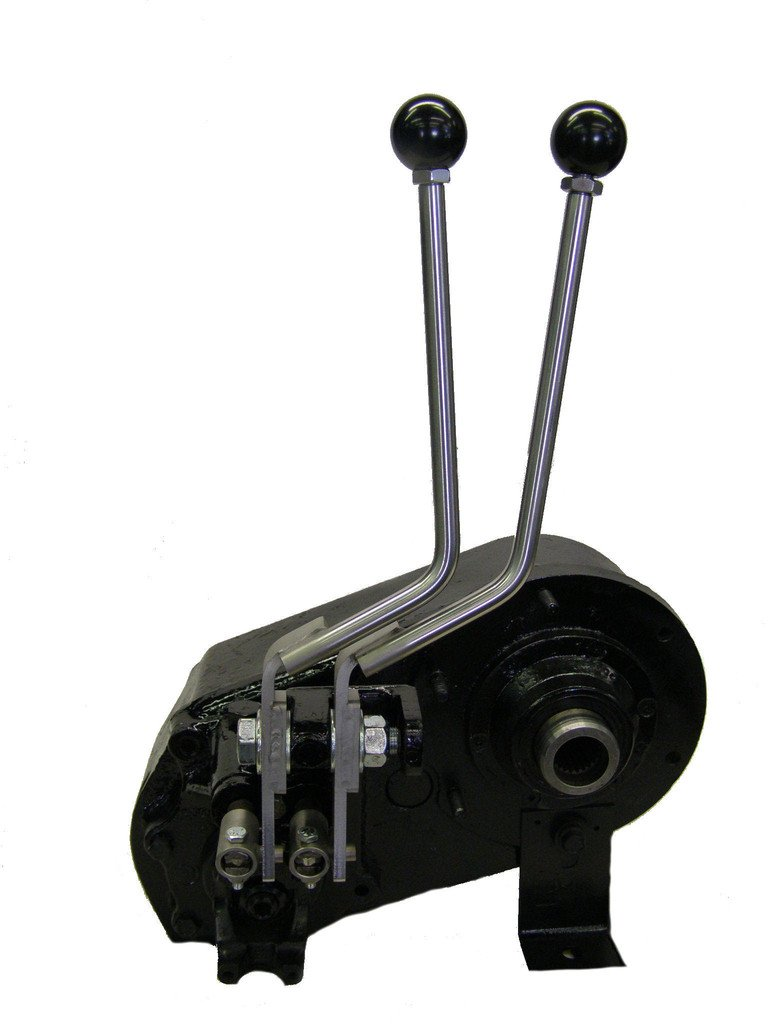 JB Custom Fabrication D300J Stainless Steel Twin-Stick Shifter For Jeep D300 Transfer Case
