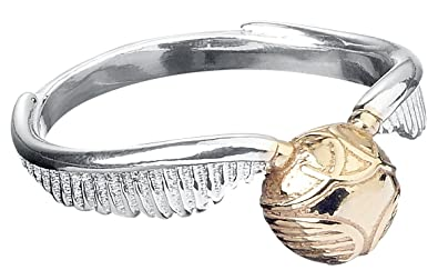 Harry Potter Sterling Silver Golden Snitch Ring - Medium GhLV8y5wtP