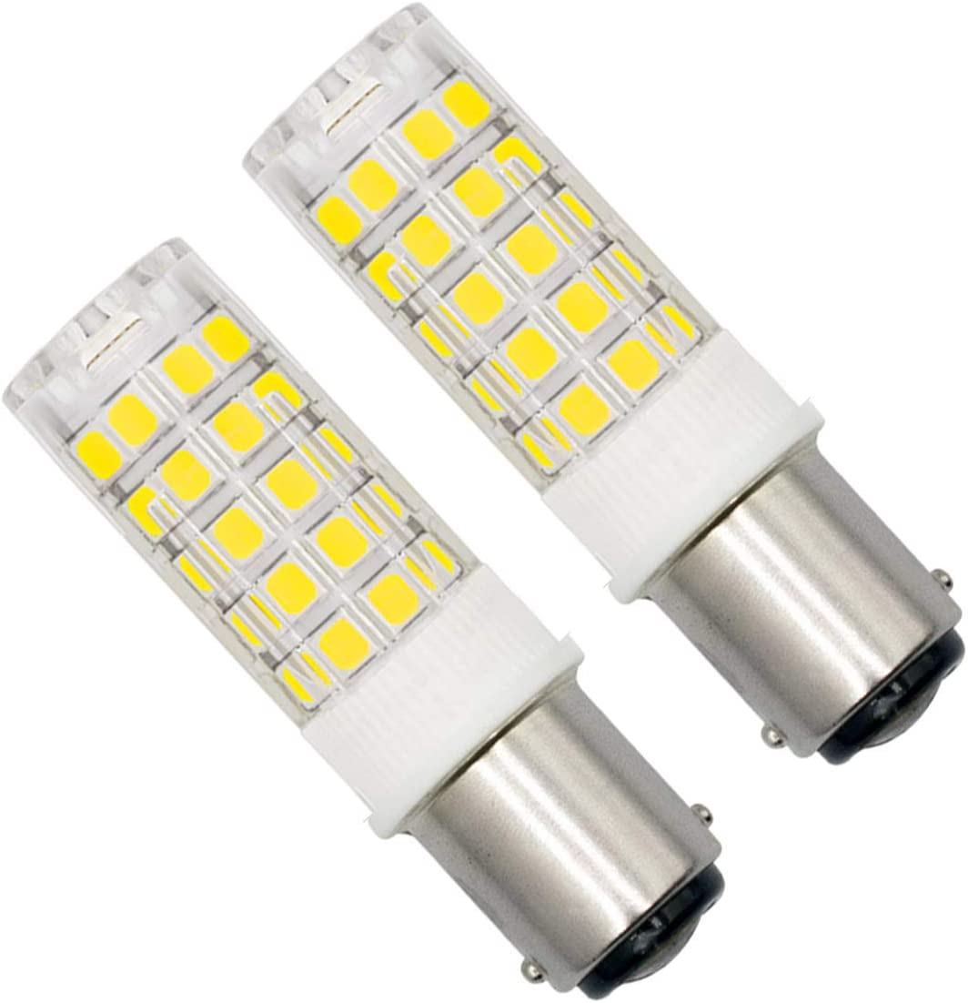 Bombilla LED BA15D regulable de 4W AC 220V-240V SBC casquillo de bayoneta doble Luz blanca 6000K,ideal para máquina de coser, frigorífico, campana de gallo,lámparas de electrodomésticos,paquete de 2