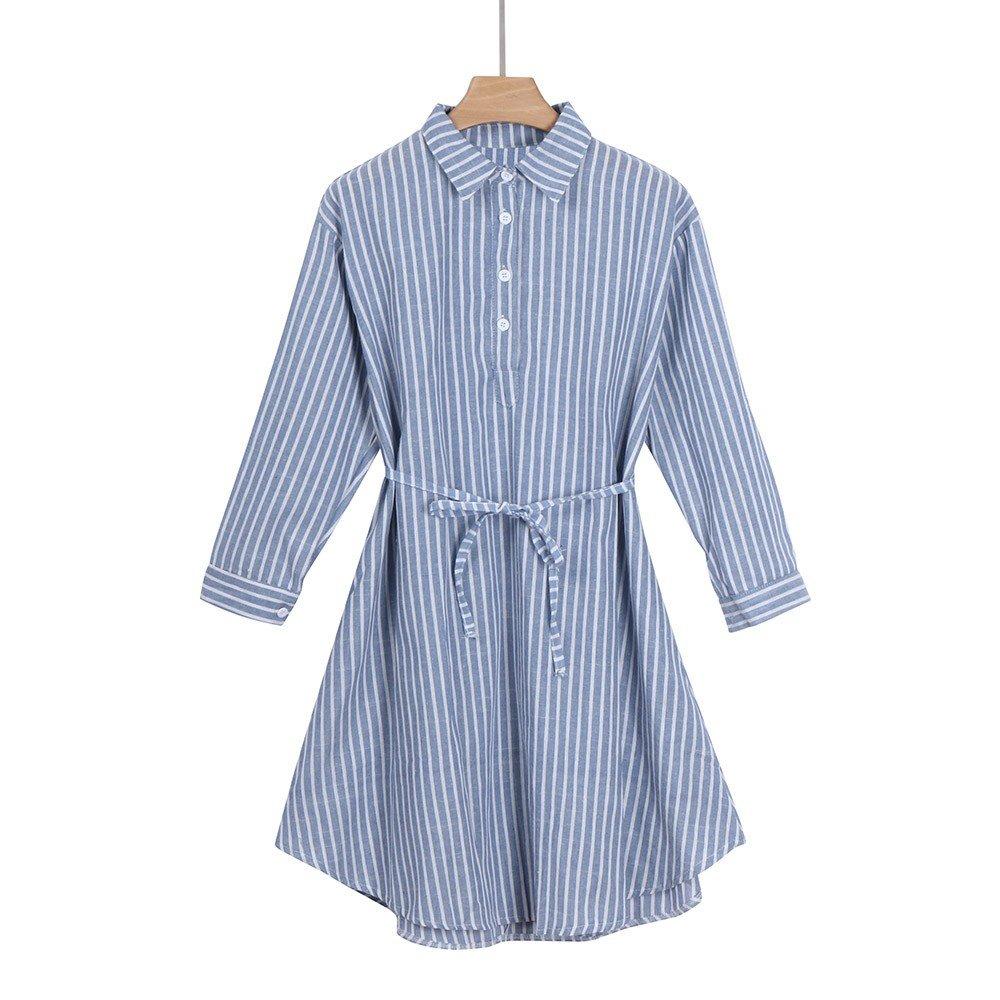 Gusspower Vestido Lactancia Rayas Mujer Embarazo, Premamá Blusa Maternidad Manga Larga Verano Invierno Primavera Suelto Camisón Ropa de Dormir Pijama: ...