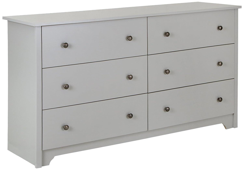Amazon Com South Svito 6 Drawer Double Dresser Soft Gray Kitchen Dining