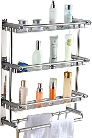 Amazon.com: Estante de baño AIYoo, estante para toallas con ...