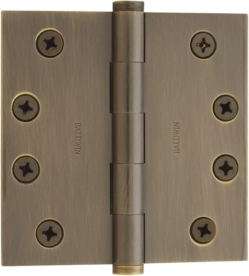 Baldwin 1040050I Square Mortise Hinge Antique Brass 4 x 4 MSRP $52