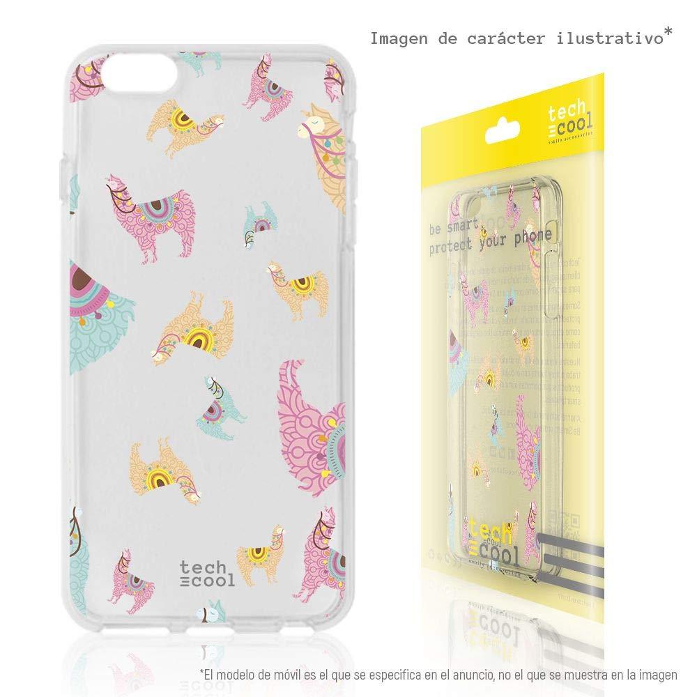 Gel Silicona Flexible, Dise/ño Exclusivo Funnytech/® Funda Silicona para Huawei Honor 10 Lite Dise/ño Llama Patrones