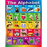 ABC Alphabet Chart by School Smarts ●Durable Material Rolled and SEALED in Plastic Poster Sleeve for Protection.
