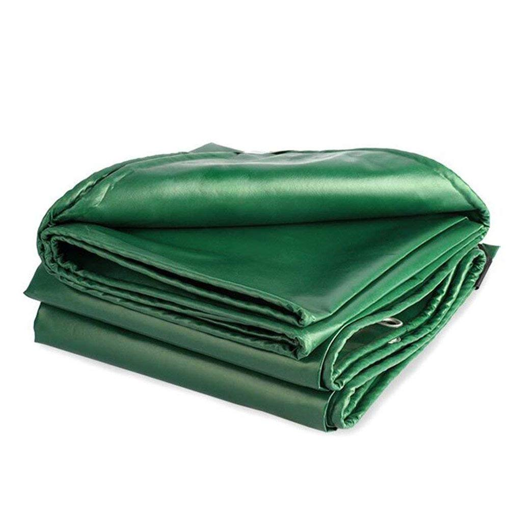 QJIAXING Plane Wasserdicht Und UV-Geschützte Schwerlast Tarps Universelle PVC-Beschichtete Tuch Dicke 0,4 Mm,Grün,3X6m