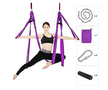 WEIXR - Hamaca de yoga para antena, antigravedad, tela de ...