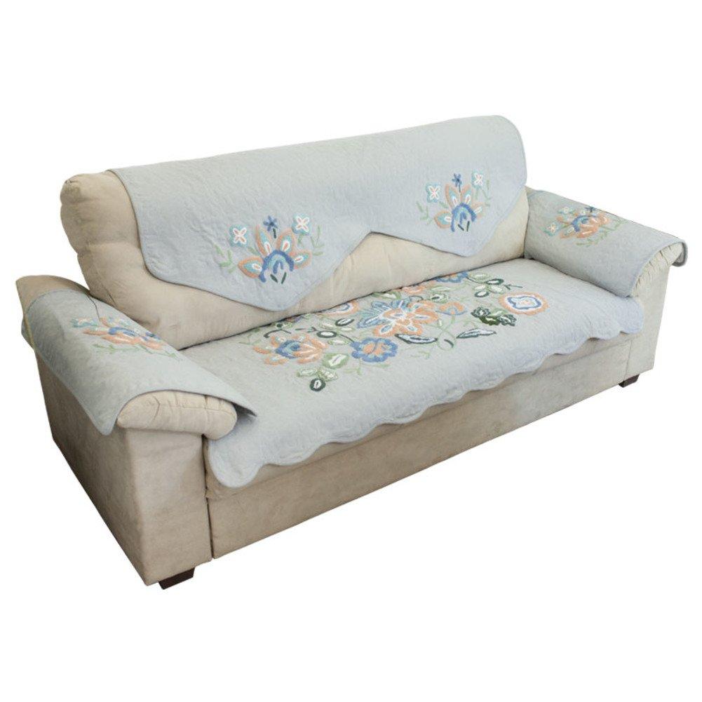 DHWJ Fields skid fabric sofa cushions Refreshing towel embroidered sofa backrest-A 72x180cm(28x71inch)