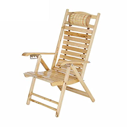 Amazon.com: ZXQZ Lounge Chair Household Wood Folding Casual Chair ...