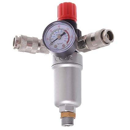 Filtro de aire comprimido unidad de mantenimiento Reductor de presión Regulador de 3/8