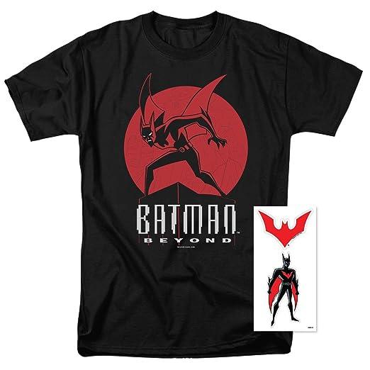 adfb0f9a6 Batman Beyond Character DC Comics T Shirt & Exclusive Stickers (Small) Black