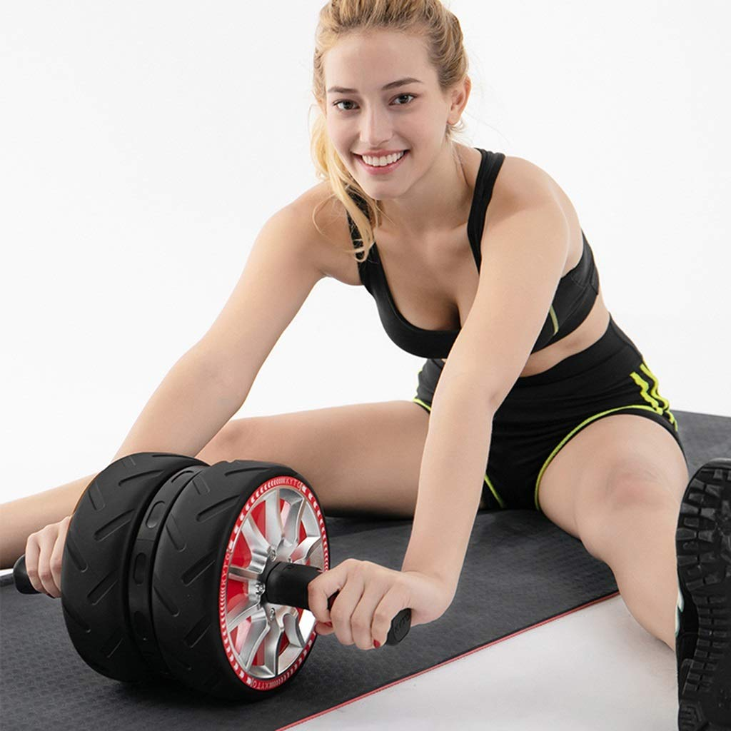 Bauchübungsrolle Abdominalrad Riesenrad Rebound Training Bauchmuskelrolle Männer und Frauen Hause ROTuktion Bauchnabels