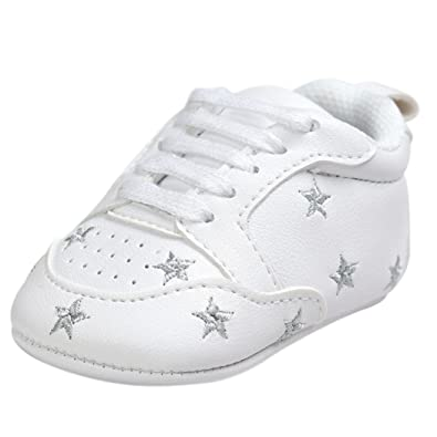 274f09f9d6bcb Scarpe Neonato Unisex inCotone Morbida - Stile Moda Star - Sneaker  Antiscivolo (età  0