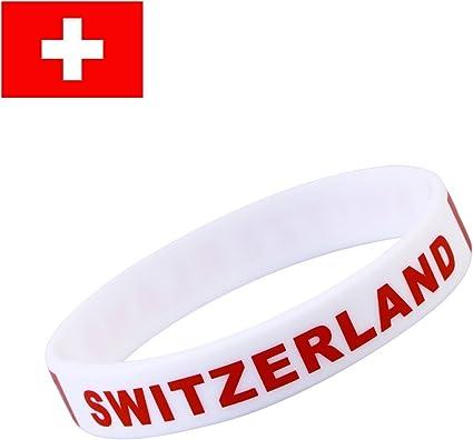 Fan Artikel WM 2018 Fußball Flagg Armband Schweiz Switzerland