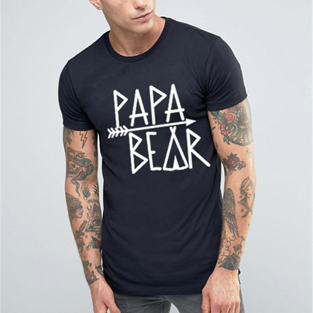 Juqilu Camiseta a Juego con la Familia Bear Print Letter Mujer Hombre Baby Kids Camisa de Manga Corta de algodón Tops: Amazon.es: Ropa y accesorios