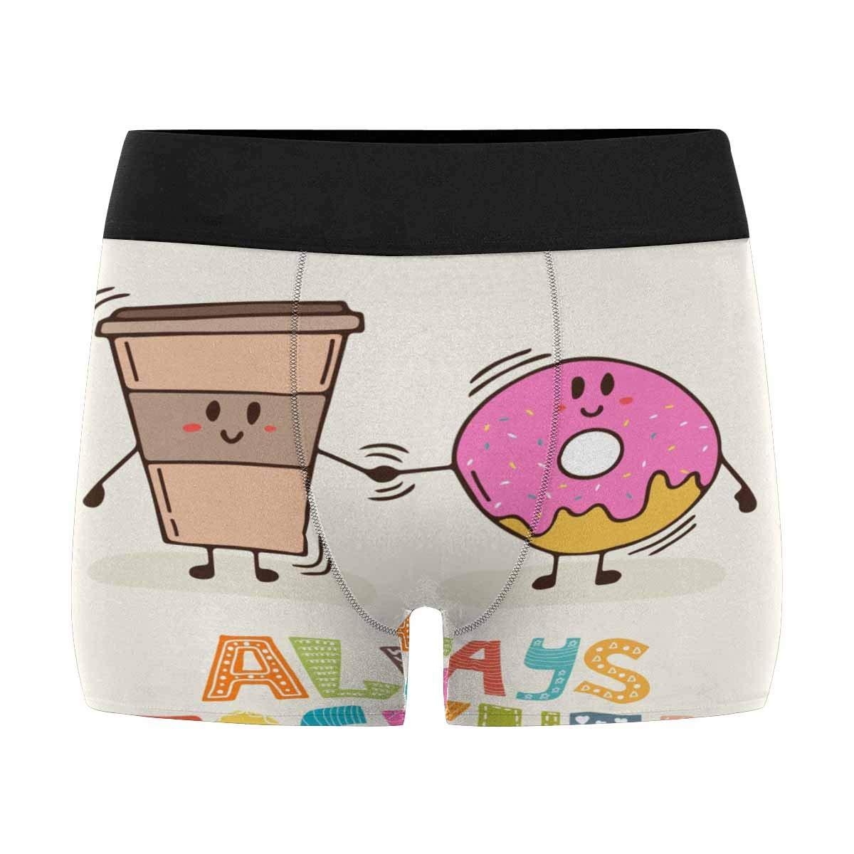 XS-3XL INTERESTPRINT Mens Boxer Briefs Cute Cartoon Donuts