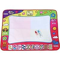 Asixx Estera de Dibujo, Dibujo Pintura, Estera de Dibujo de Agua, 80 * 60 Cm, con 2 Bolígrafos Mágicos, Un Regalo para Niño