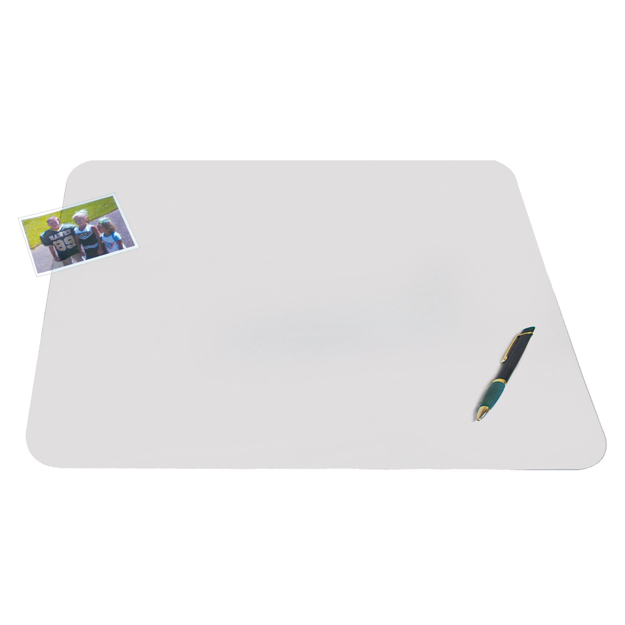 Artistic  60740M 12'' x 17'' Krystal View Non-Glare Antimicrobial Desk Pad Organizer with Exclusive Microban Antimicrobial Protection, Frosted