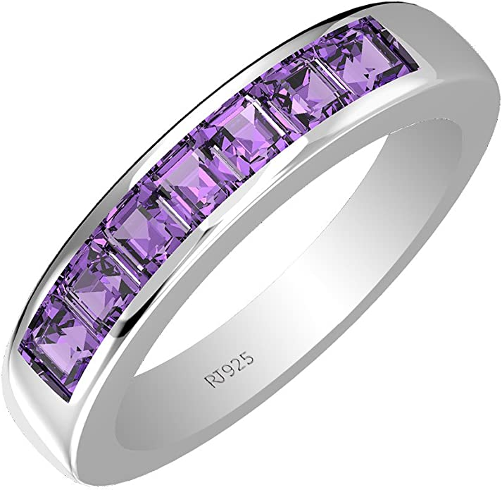 1.95 ctw. Amethyst Ring in 925 Sterling Silver