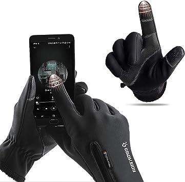 IvyH Guanti da Sci Guanti da Snowboard Invernali Termici da Snowboard Impermeabili Guanti Touchscreen per Uomo Donna