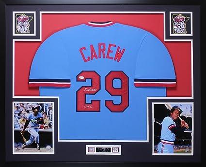 more photos 73b93 7be48 Rod Carew Autographed Blue Minnesota Twins Jersey ...