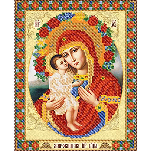 DIY 5D Diamond Painting Kits for Adults and Kids,Round Rhinestone Diamond Embroidery Paintings Arts Craft for Home Wall Decor (Mother Mary, 10.2 x 11.8 inch)