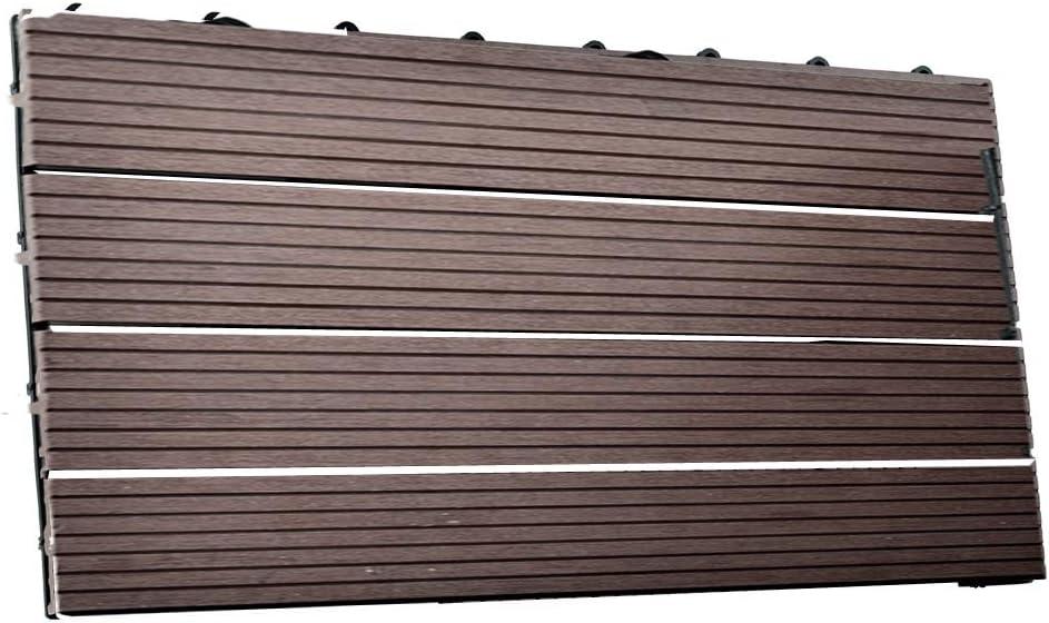 1m/² Terrassen-Fliese aus WPC Kunststoff 11er Spar Set f/ür 1 m/² 11x Dunkelbraun 300 * 300 * 22mm Garten-Fliese SIENOC 11 St/ück//ca Balkon Bodenbelag mit Drainage Unterkonstruktion 30x30cm