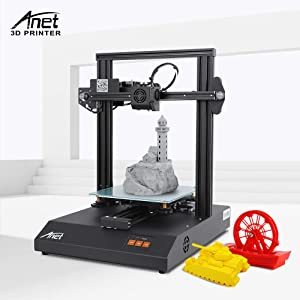 Anet ET4 pro 3D Printer, Ultra Silient with Stepper Driver, High Precision Resume Printing, Matrix Automatic Levelling, UL Certified Power Supply 220X220X250mm(Black)