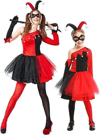 Hivia Disfraz de Cómic para Mujer Niñas, Joker Harley Quinn ...
