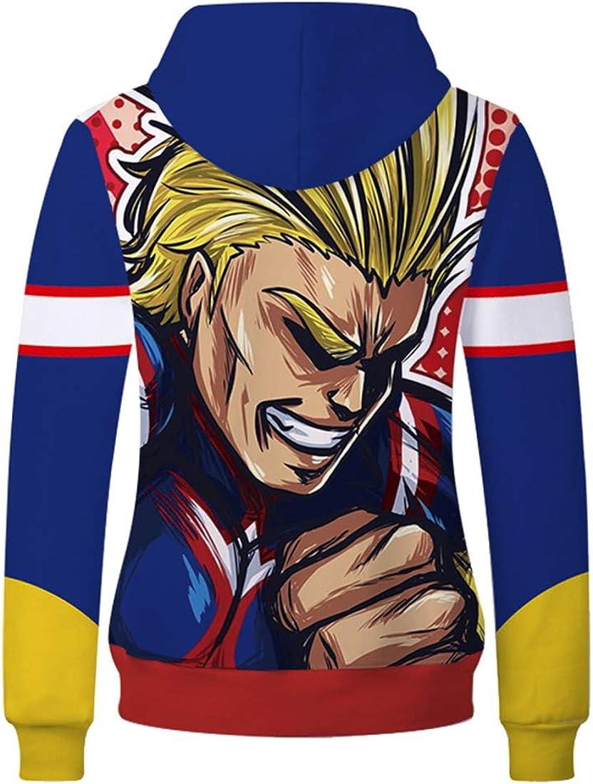 C CHARMLEY Unisex Anime My Hero Academia Hooded Sweatshirt 3D Printed Cosplay Pullover Jacket Tops US XXS-4XL