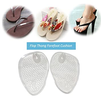 fb21d4f9a3cf78 Image Unavailable. Image not available for. Color  (2 Pairs)Gel Cushions  For Flip Flop Sandals