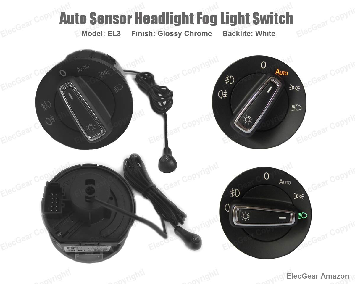KFZ Scheinwerferschalter Hauptlichtschalter Nebelscheinwerfer Octavia 1 Citigo EL11 Auto Lichtsensor Bluetooth App Lichtschalter Superb B5 Combi Roomster 5J Fabia 2 Coming Leaving Home Modul
