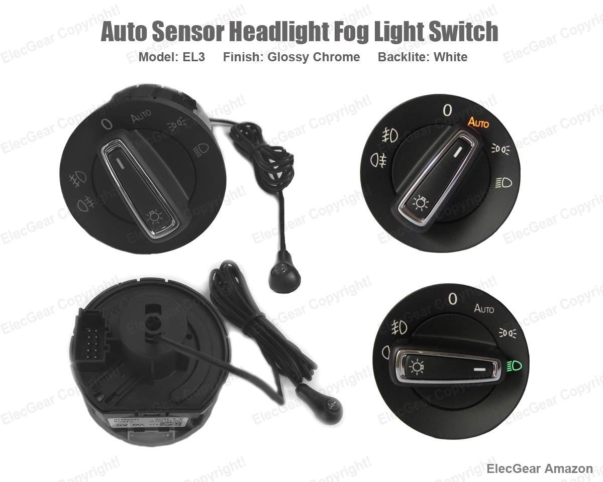 KIMISS Headlight Lamp Control Switch Sensor Module for MK7 2013-2017