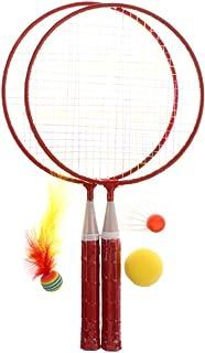 Sharplace 2pcs Mini Raquettes avec Balle Volant Birdie pour Enfants Jeux Jouet Sports en Plein Air Plage Jardin Exterieur 44.3 x 22.3 cm