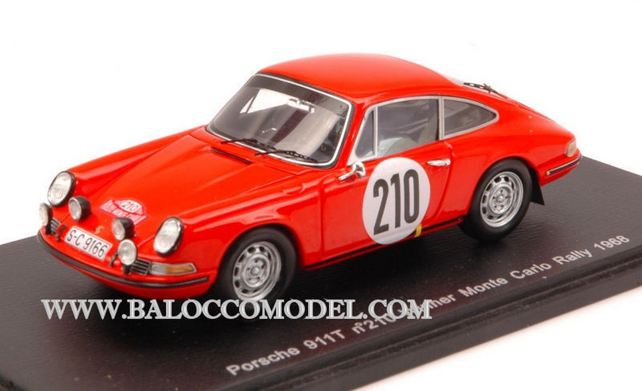 Spark Model S4021 Porsche 911T N.210 Monte Carlo Rally 1968 ELFORD-Stone 1:43