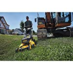 Dewalt 20v max lawn mower, 3-in-1, 2 batteries (dcmw220p2) 23 push mower comes with powerful brushless motor and (2) 20v max* batteries working simultaneously for high power output. 3-in-1 push lawn mower for mulching, bagging and side discharging battery lawn mower has heavy-duty 20-inch metal deck