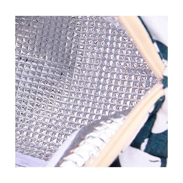 Joyfeel - Borsa Termica per Il Pranzo, in Cotone, Motivo: Orsetto, 18 x 13 x 21,5 cm 4 spesavip
