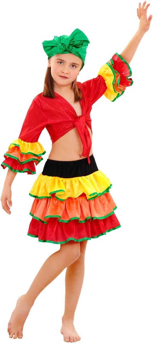 Boys Toys Disfraz de Rumbera Salsa Niña (10-12 años): Amazon.es ...