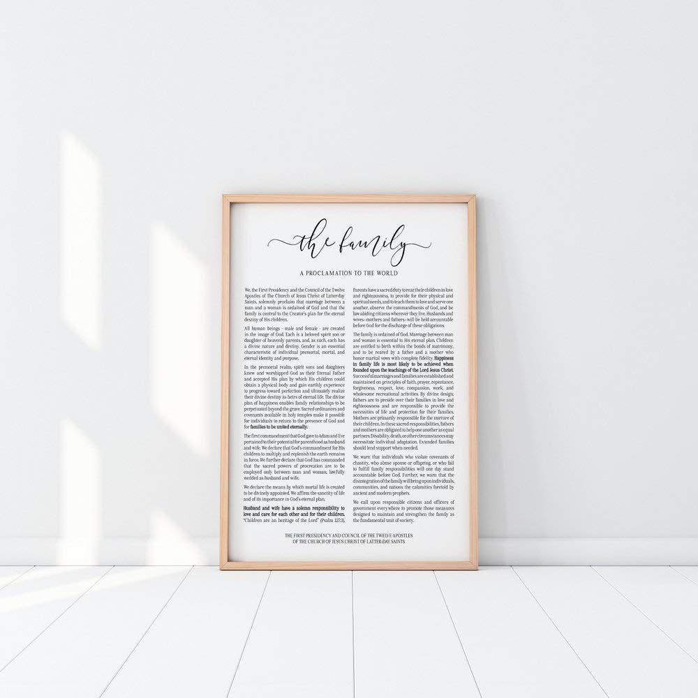 picture relating to The Family a Proclamation to the World Printable titled : The Loved ones Proclamation Print LDS Poster LDS