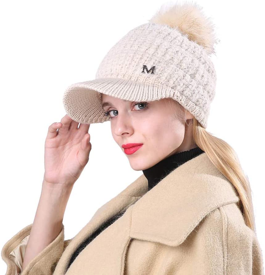 Men Women Winter Cap Solid Ear Protector Slouchy Hairball Hat A1 2019 Women Knitted Hat Warm Thick Winter Hats