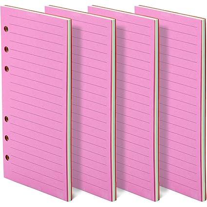 FANDAMEI - 200 hojas de papel de varios colores para Filofax ...