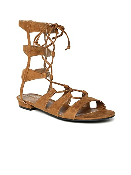 6436656fb50 Forever 21 Women Brown Gladiators (6UK)  Buy Online at Low Prices in ...
