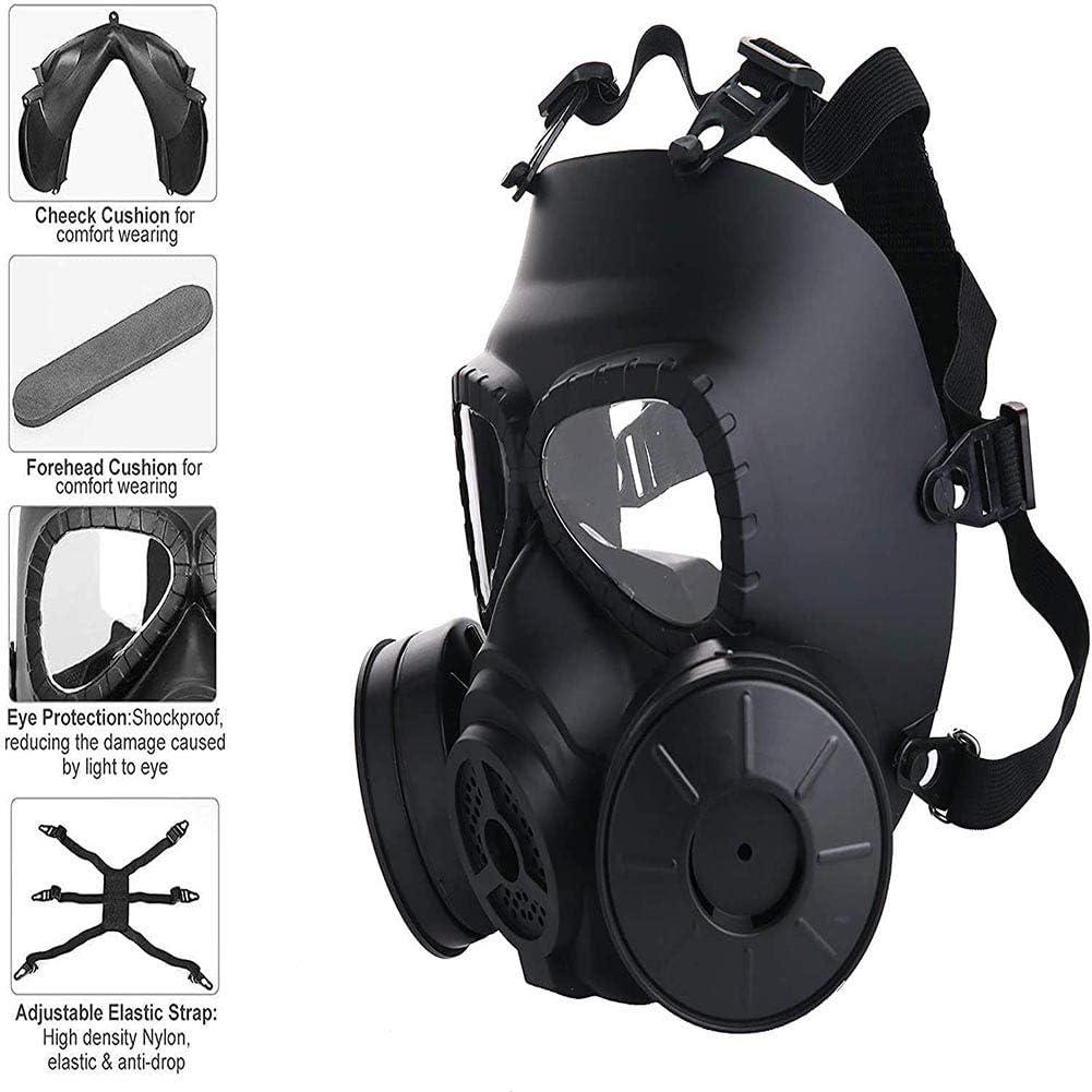 AN Máscara Protectora táctica de Airsoft, máscara de Seguridad de Gases tóxicos, máscara de Juego ficticia de Calavera de protección con Correa Ajustable para Pistola