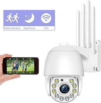 C/ámara Domo Exterior WiFi Impermeable Aottom 1080P C/ámara IP inal/ámbrica 360/° WiFi con Detector de Movimiento Alarma Compatible con App IP Pro WiFi Camera Kit Soporta MAX 128G Audio de Dos V/ías