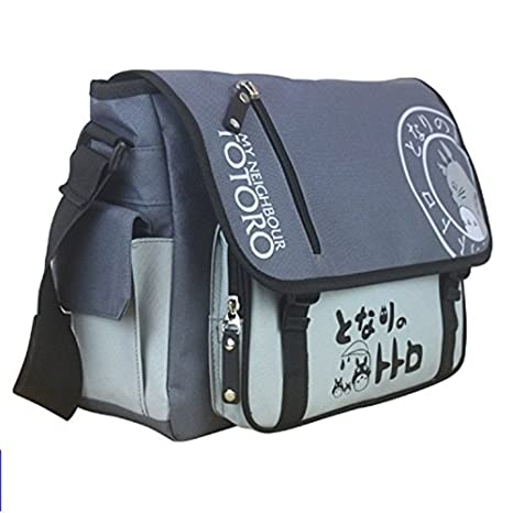 11f891d1dc Amazon.com  Anime My Neighbor Totoro Canvas Messenger Bag  Sports   Outdoors