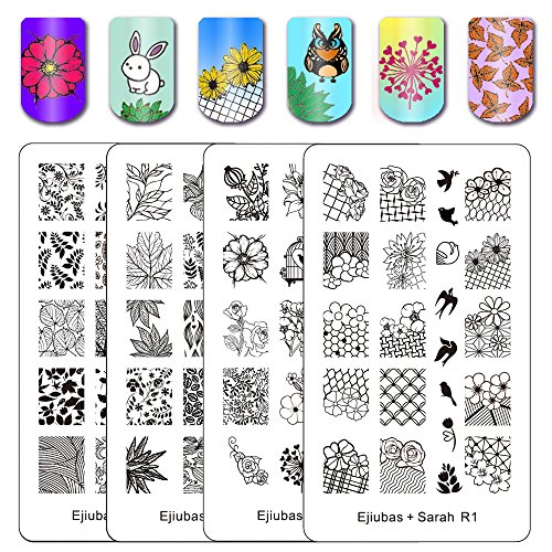 Ejiubas Double-sided Nail Stamping Plates
